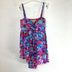 Alisha Levine Floral One Piece Swimsuit Size 12
